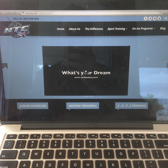 Sik sik new NTC site www.ntchockey.com @therealdanblackburn #skating treadmill