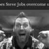 How does Steve Jobs overcome struggle?